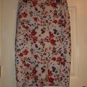 Express High Rise Floral Pencil Skirt